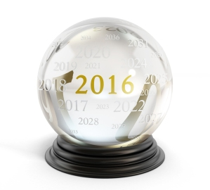 Crystal Ball With Number 2016
